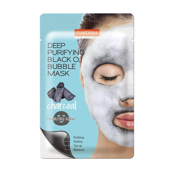 Deep Puryfing Black O2 Bubble Mask Charcoal