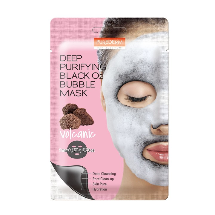 Deep Puryfing Black O2 Bubble Mask Volcanic