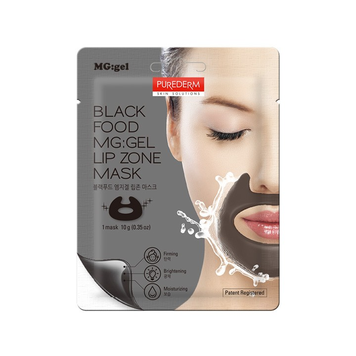 Black Food MG:GEL Lip Zone Mask